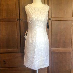 White semi formal/cocktail Carmen Marc Valvo Dress
